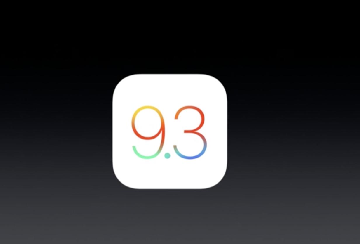 iOS 9.3 nyheter