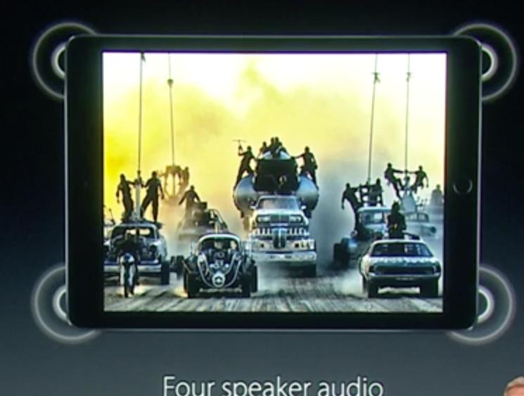 4 høyttalere på iPad Pro'en!
